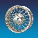 "Jaguar XK120 5"" x 16""   60 spokes Stainless steel wire wheel"